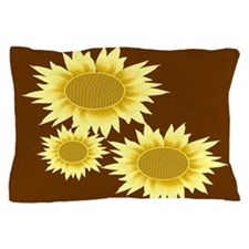 Three Sunflowers Pillow Case