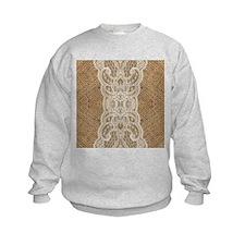 Cute Burlap Sweatshirt