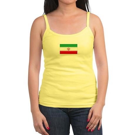 iran flag Jr. Spaghetti Tank