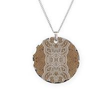 Unique Lacie Necklace Circle Charm