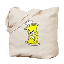 Cartoon Yellow Spray Paint Can Tote Bag