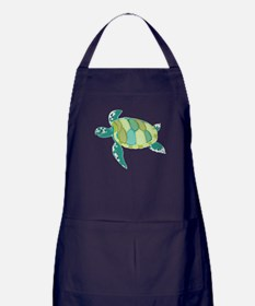 Green Sea Turtle Apron (dark)