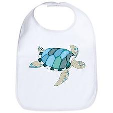 Blue Sea Turtle Bib