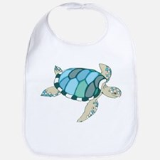 Blue Sea Turtle Bib
