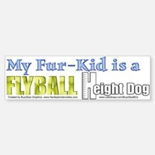 Fur Kid Height Dog Bumper Bumper Bumper Sticker