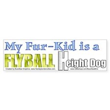 Fur Kid Height Dog Bumper Bumper Sticker