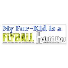 Fur Kid Height Dog Bumper Car Sticker