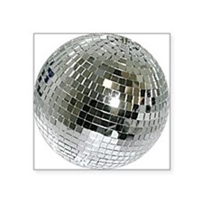 "Spazzoid Disco Ball Square Sticker 3"" x 3"""