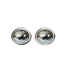 Spazzoid Disco Ball Oval Cufflinks