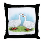 Sebastopol Goose Pair Throw Pillow