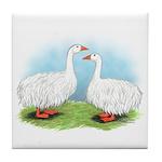 Sebastopol Goose Pair Tile Coaster
