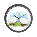 Sebastopol Goose Pair Wall Clock