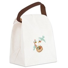 Feeding Birds Nest Canvas Lunch Bag