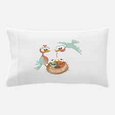Feeding Birds Nest Pillow Case