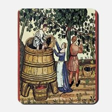 Old Vinyard, pick grape Mousepad