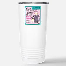Aunty Acid: Nervous Bre Stainless Steel Travel Mug