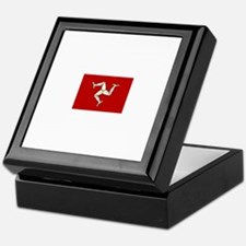 isle of man flag Keepsake Box