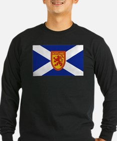 St Andrews Cross Royal Lion Shield 2 Long Sleeve T