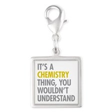 Its A Chemistry Thing Silver Square Charm