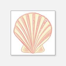 Pink Seashell Sticker
