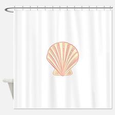 Pink Seashell Shower Curtain