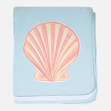 Pink Seashell baby blanket