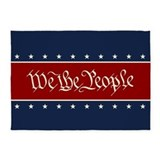 2nd amendment american flag 5x7 Rugs