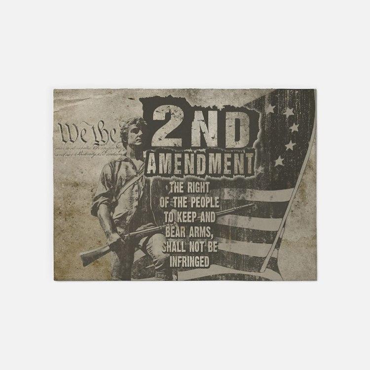 2nd Amendment 5'x7'Area Rug