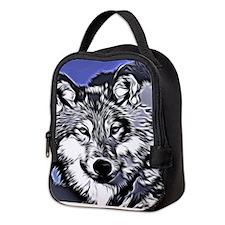 Grey wolf Neoprene Lunch Bag