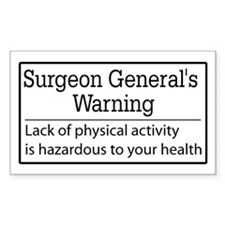 Warning: Lack of Activity,,, Rectangle Decal