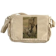 Momma and Baby Elephant Messenger Bag