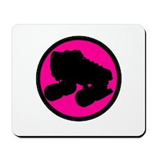 Pink Circle Skate Mousepad