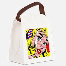Cute Pop art Canvas Lunch Bag