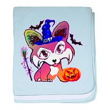Halloween Corgi Manga Baby Blanket