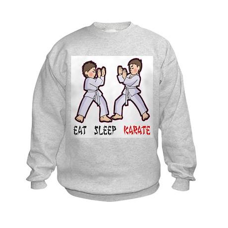 Eat Sleep Karate Kids Sweatshirt