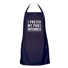 I prefer my puns intended Apron (dark)