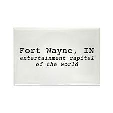 "Ft. Wayne ""entertainment capi Rectangle Magnet"