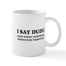 I say dude right before something moderately impor