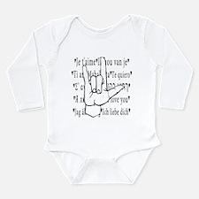 I Love You, ASL Long Sleeve Infant Bodysuit