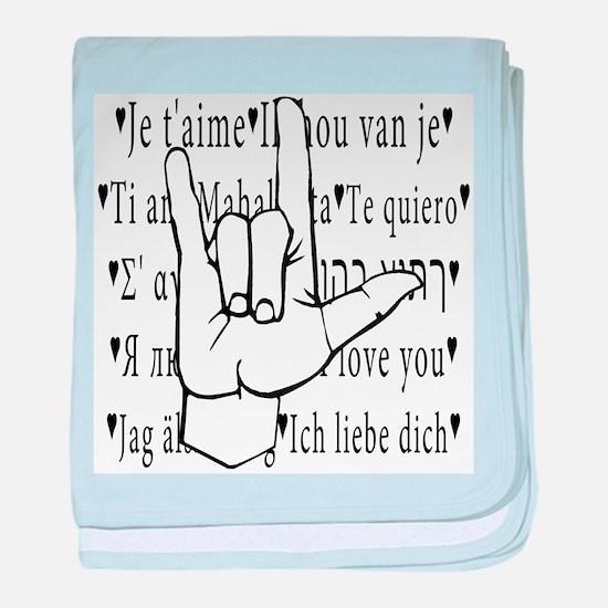 I Love You, ASL baby blanket