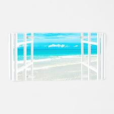 Oceanfront View Aluminum License Plate
