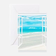 Oceanfront View Greeting Cards