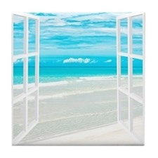 Oceanfront View Tile Coaster