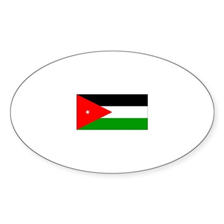 jordan flag Oval Sticker