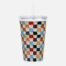 Cute Sewing pattern Acrylic Double-wall Tumbler