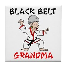 Black Belt Grandma Tile Coaster