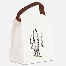 Lemur On The Road Again Canvas Lunch Bag