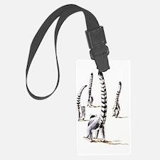 Lemur On The Road Again Luggage Tag