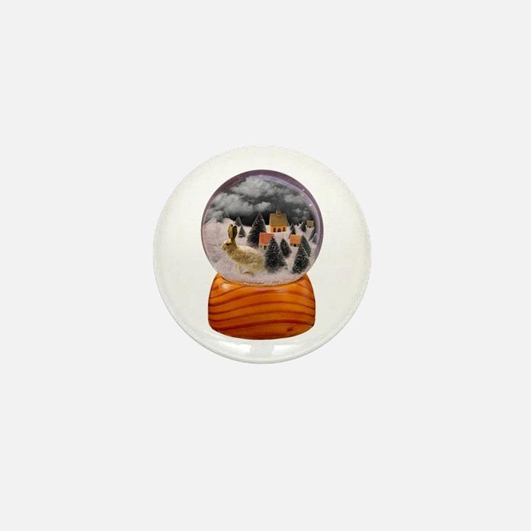 Cute Snow globe Mini Button