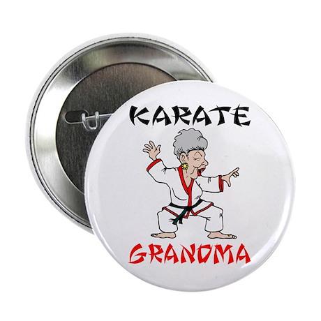Karate Grandma Button
